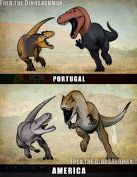 Turned Tables | Allosaurus vs Torvosaurus by FredtheDinosaurman