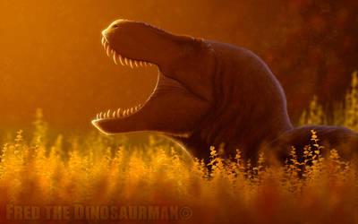 Resting Tyrannosaurus Rex by FredtheDinosaurman