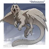 Owlosaurus by FredtheDinosaurman