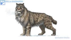 Smilodon fatalis #4 by FredtheDinosaurman