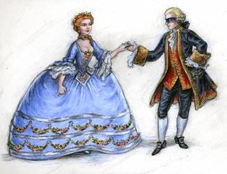 The Marquis de Sade and Laure by suburbanbeatnik