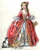 Kristin as Madame Pompadour by suburbanbeatnik