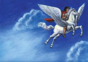 Bellerophon and Pegasus by suburbanbeatnik