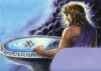 Bellerophon and Zeus by suburbanbeatnik