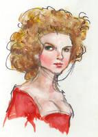 Xandrine, oil sketch by suburbanbeatnik