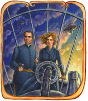 Airship Alice and Luigi by suburbanbeatnik