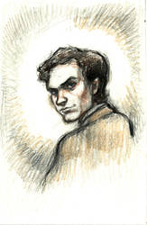 Portrait of Ted Bundy by suburbanbeatnik