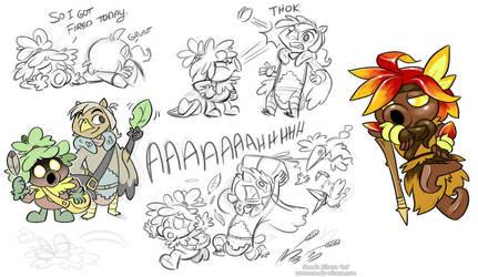 Zelda scribbles by Yamita