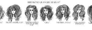 Hermione Granger through the years by xxIgnisxx