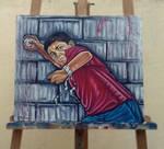 Kid from Gaza - Oil on Canvas. by ElMetmari