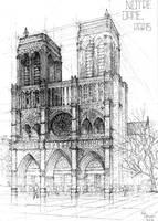 Notre Dame de Paris [architecture] by IceRider098