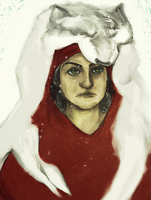 Red Riding Hood and her wolf pelt. by JunkUpShowUp