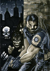 Resident Evil Sketch Card by RichardCox