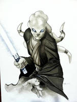 Kit Fisto HC 2011 Con Sketch by RichardCox