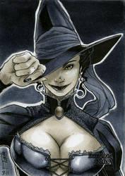 Witch Dungeon Dolls Sketch Card by RichardCox