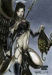 Angel Dungeon Dolls Sketch Card by RichardCox