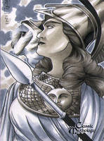 Athena Classic Mythology Sketch Card by RichardCox