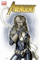 Black Widow Avengers 7 Sketch Cover by RichardCox