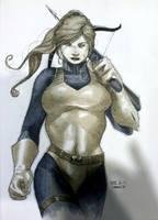 Scarlett /GI Joe Con Sketch by RichardCox