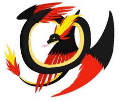 Poke-mythology - Quilava Quetzalcoatl by BambisParanoia