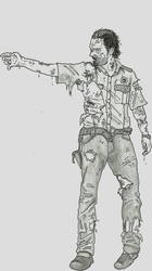 The Walking Dead - Zombified Rick by SaveTheGnomes13