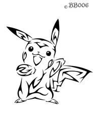#025: Tribal Pikachu by blackbutterfly006