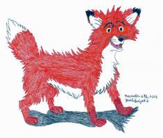 Tod's Fuzzy Hair by Yoshiknight2