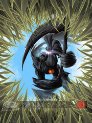The black reaper in the eyes of the kaiju by lancerdrake