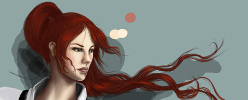 red hair concept1 by phoenixnightmare