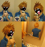 Roxas Wig Commission - Test by xHee-Heex