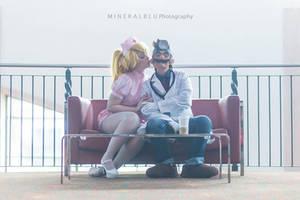 Dr. Mario and Nurse Peach by xHee-Heex