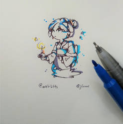 [Art trade] Penguin oc by EunniePop