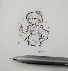 [AT] Aera pen line art by EunniePop