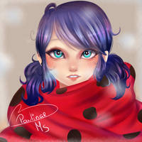 ReDraw Marinette in the Snow by carolina123hey