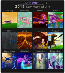 2016 Summary of Art by Lunoxius