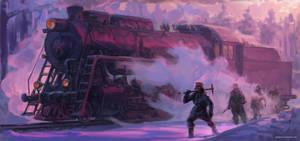 Locomotive.Winter. by TolyanMy