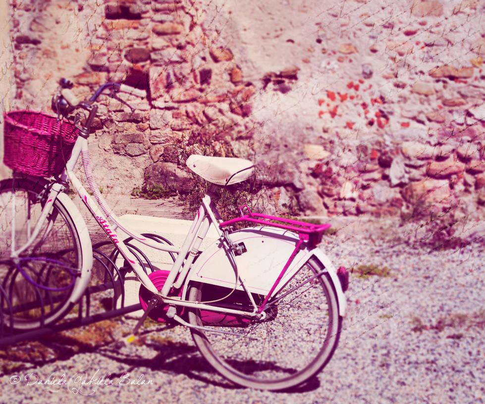 Biking in pink. by NevhariaDGB
