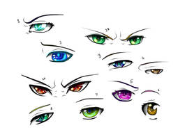 Eye reference Sketch dump by AnEclipseAtdusk