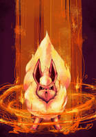 Flareon Used Lava Plume by A-Lure