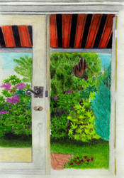 View to the garden WIP by Alinnela
