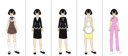 Laura's alternate outfits by Ashleysonglover