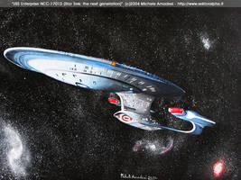 USS Enterprise NCC-1701D by shintetsuya