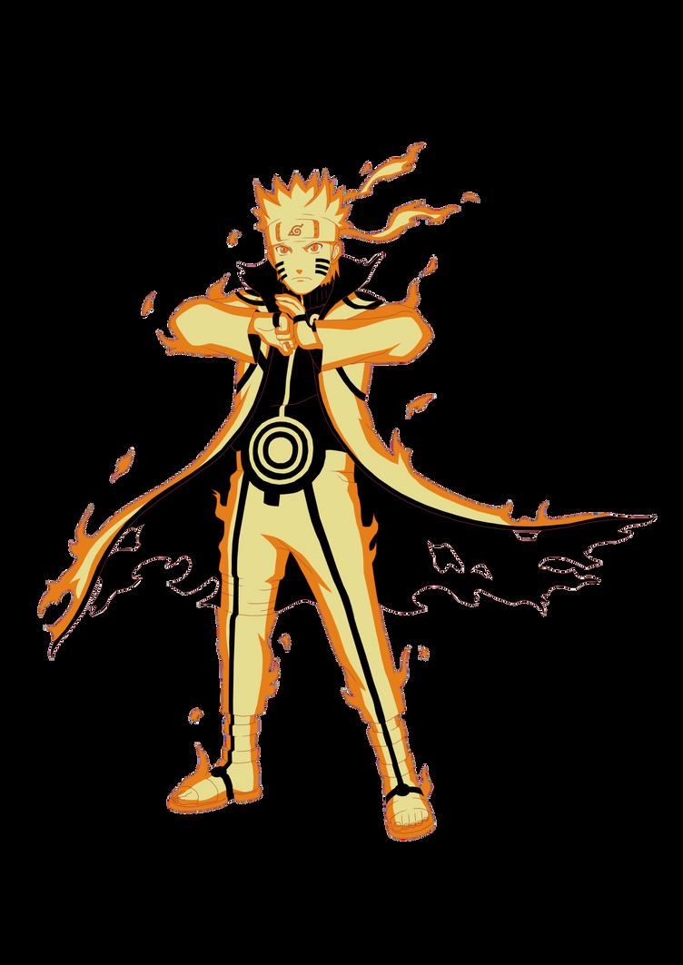 Naruto Kurama Mode by xUzumaki