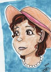 Birthday sketchbook-portrait by jessalia
