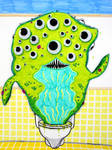 Toilet Monster by NickBentonArt