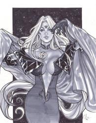 Ah My Goddess Urd Sketch by TyRomsa