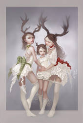 Christmas Ghosts by YummyKitty