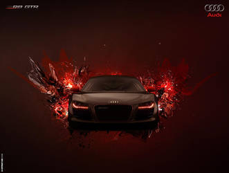 Audi R8 GTR Poster by ev-one