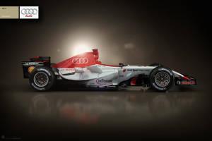 Audi F1 Livery Print by ev-one
