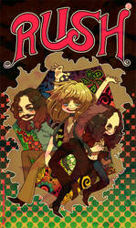 RUSH-Rock band by wasawasawa